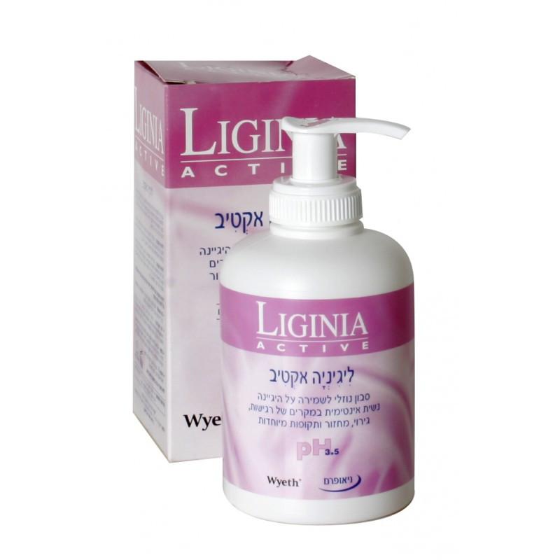 ליגיניה אקטיב - סבון אינטימי לנשים למקרים של רגישות, גירוי ומחזור