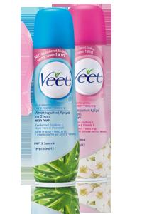 ויט קרם בספריי להסרת שיער לעור רגיל / רגיש | VEET Spray Removal Cream