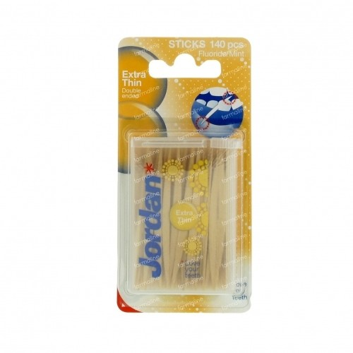 קיסמי שיניים דקים במיוחד דו צדדיים ג'ורדן Jordan Extra Thin Toothpicks