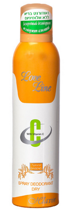 לאב ליין דאודורנט ספריי כתום | Hlavin Love Line Doedorant Spray חלאבין