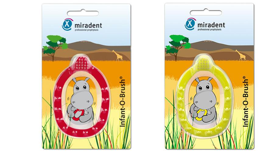 מברשת שיניים לתינוקות | מעל גיל 3 חודשים מירדנט | Miradent Infant Toothbrush Infant-O-Brush