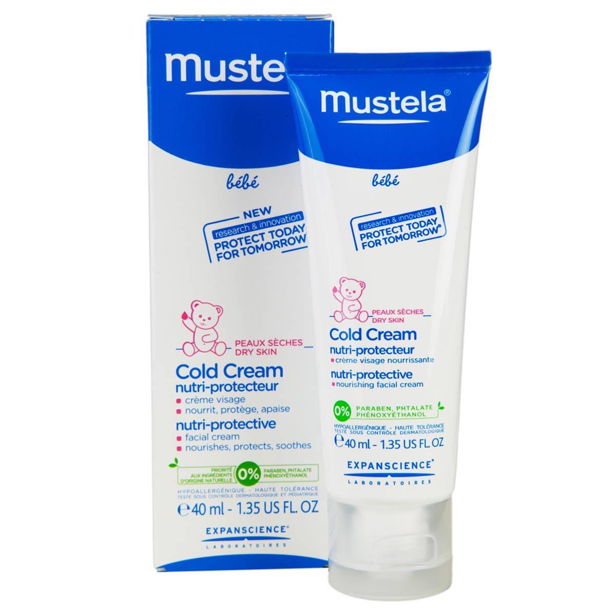 קולד קרם פנים לתינוקות לעור יבש במיוחד | Mustella Baby Cold Cream מוסטלה