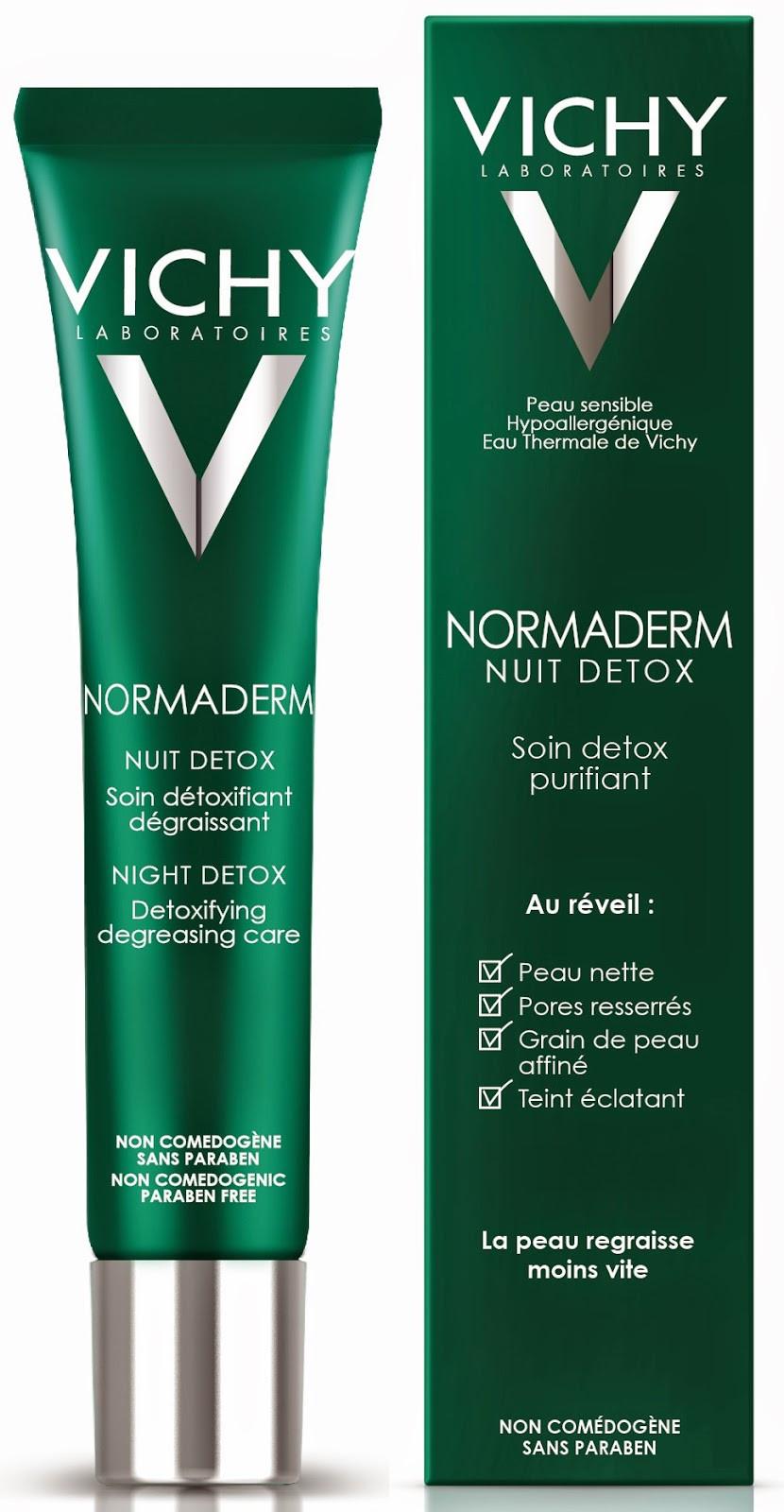 נורמדרם וישי קרם לילה לעור פנים שמן VICHY NORMADERM NIGHT DETOX