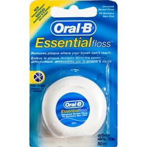 חוט דנטלי אסנשיאל פלוס אוראל בי ללא שעווה Oral B Essential Floss Unwaxed