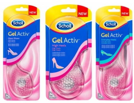 שול רפידות ג'ל אקטיב למגוון סוגים של עקבים ונעלי נשים Scholl Gel Activ
