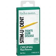 סטים-יו-דנט קיסמי שיניים רכים מעץ בטעם מנטה | לניקוי יסודי בין השיניים | STIM-U-DENT