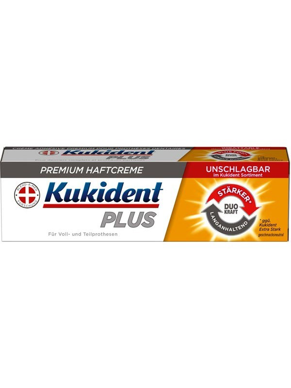 מעולה קוקידנט פלוס משחה להצמדת שיניים תותבות חזקה במיוחד Kukident PLUS MS-87