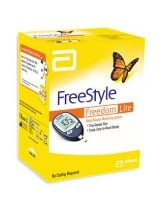 FREESTYLE FREEDOM LITE מד סוכר למדידה מהירה ומדוייקת - מכיל מד סוכר, 10 סטריפים ו-10 דוקרנים למדידה