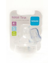 פטמה לבקבוק מספר 3 זרימה מהירה +4 חודשים מאמ | MAM Teat