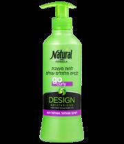 נטורל פורמולה קרם לחות לבניית תלתלים עגולים | Natural Formula Design Moisturizing