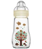 """בקבוק זכוכית לתינוק מאמ 170 / 220 מ""""ל"""