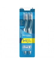 אוראל בי קרוס אקשן זוג מברשות שיניים עם מנקה לשון