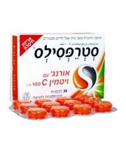 """סטרפסילס אורנג' עם ויטמין 100 C מ""""ג STREPSILS"""