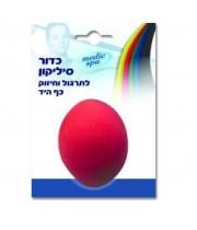 Medic Spa - כדור סיליקון לתרגול וחיזוק כף היד - קשה - אדום