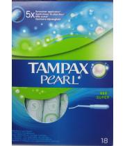 טמפקס פרל סופר טמפון לזרימה בינונית עד חזקה Tampax Pearl Super