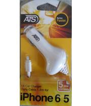 ATS מטען לרכב לאייפון 5/6 1 אמפר כבל מסולסל