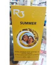 R3 SUMMER CONDOMS  סאמר  12 קונדומים דקים ומשומנים במיוחד לתחושה מירבית