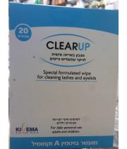 קליר-אפ מגבונים לעיניים באריזה אישית לניקוי העפעפיים והריסים CLEARUP
