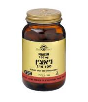 """ניאצין 100 מ""""ג ויטמין Niacin Vitamin B3 סולגאר SOLGAR"""
