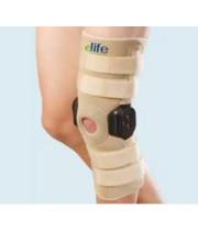 מקבע ברך ארוך עם צירים | ELIFE ROM Hinged Knee Support