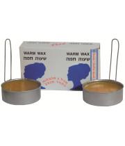 שעווה חמה להסרת שיער זוג מחבתות במחיר מבצע | Warm Wax