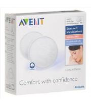 אוונט רפידות הנקה לשימוש רב פעמי | 100 אחוז כותנה | AVENT BreastFeeding Pads
