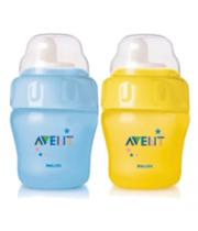 אוונט AVENT בקבוק לא-נשפך עם פיה רכה ללגימה קלה Non-Spill Easy-Sip Magic Cup +6M