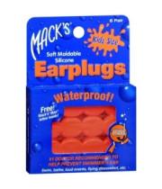 אטמי אוזניים לשחייה | אטמי אוזניים לילדים ותינוקות עמידים במים Macks Earplugs