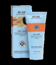 קרם טבעי להגנה מהשמש ושיקום העור Sun Saver Polygonum Sun Protector & Skin Rehabilitation Cream Spf 15 מורז MORAZ