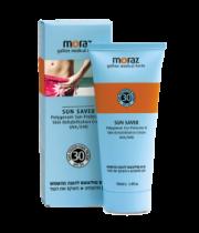 קרם טבעי להגנה מהשמש ושיקום העור Sun Saver Polygonum Spf 30 מורז MORAZ