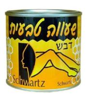 שוורץ שעווה טבעית דבש להסרת שיער קופסת פח Natural Honey Wax