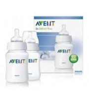 בקבוקי האכלה לתינוקות כולל פיטמת איירפלקס Airflex Feeding Bottles אוונט