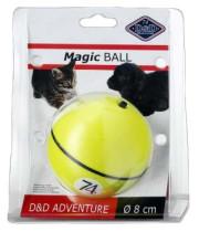 כדור משוגע לחתולים וכלבים צהוב / ורוד