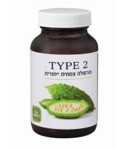 טייפ TYPE 2 לאיזון רמת הסוכר בדם (100 כמוסות) - כליל