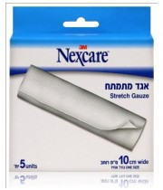 "אגד מתמתח 10 ס""מ נקסקר NEXCARE STRETCH GAUSE"