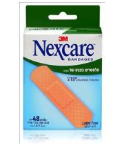 פלסטרים נושמים בצבע עור נקסקר 48 יחידות NEXCARE BREATHABLE STRIPS