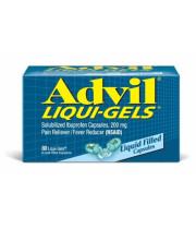 אדויל ליקווי-ג'ל משכך כאבים, נוגד דלקת ולהורדת חום 80 כמוסות | ADVIL LIQUI-GELS For The Relief Of Pain and Inflammation