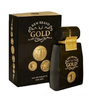 """בושם לגבר גולד ניו ברנד 100 מ""""ל א.ד.ט NEW BRAND GOLD FOR MEN"""