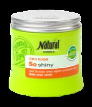 מסכת הזנה לשיער צבוע ופגום נטורל פורמולה | Natural Formula So Shiny