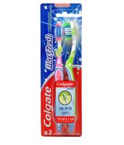 קולגייט מקס פרש מברשת שיניים רכה לריח פה רענן זוג | Colgate Max Fresh Toothbrush