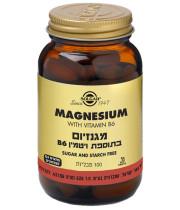 סולגאר מגנזיום בתוספת ויטמין B6