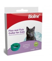 "ביוליין קולר לחתול 35 ס""מ Bioline flea& tick collar for cats"
