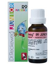 R9 JUNIOR ג'וניור | הומאופתיה בטיפות למקרים של שיעול לח או יבש בילדים  | Dr. Reckeweg