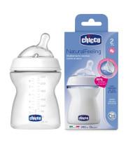 """בקבוק האכלה נטורל פילינג לתינוק צ'יקו 2+ חודשים 250 מ""""ל Chicco Natural Feeling"""
