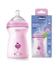 """בקבוק האכלה נטורל פילינג לתינוק צ'יקו 6+ חודשים 330 מ""""ל Chicco Natural Feeling"""