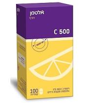 """ויטמין C 500 מ""""ג בתוספת פקעת ורדים אלטמן 100 קפליות"""