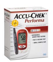 ACCU-CHEK PERFORMA מד סוכר למדידה מהירה ומדוייקת - ערכה המכילה מד סוכר, 10 סטריפים ו-10 דוקרנים למדידה