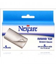 "אגד מתמתח 5 ס""מ נקסקר NEXCARE STRETCH GAUZE"