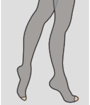 גרבי לחץ אורטופדיים לוקסור | גרביון אצבעות פתוחות | דרגת לחץ 2 דגם AT 814LXC LUXOR