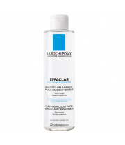 EFFACLAR MICELLAR WATER אפקלאר מיסלר מי פנים להסרת איפור וניקוי עור פנים שמן לה רוש פוזה